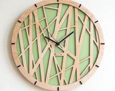 Modern Wall Clock Tree leaves Large Wall Clock от Lines4room