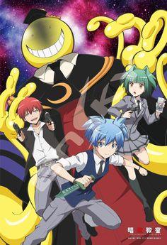 The beautiful Nagisa, Karma, and Kayano... Plus Koro-Sensei >.>