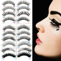 10 Pairs Styles Mix False Eyelashes Handmade Makeup Natural Long Fake Eye Lashes Set Freeshipping