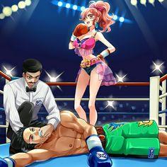 Mixed boxing Girl win!!!!!!!!!