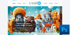 CreatiBE - Stylish PSD Template