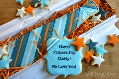 DIY Father's Day cookie