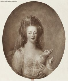 A portrait of Marie Antoinette by Bouton, reproduced in an engraving.