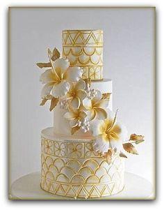 beautiful gold and white Samoan inspired wedding cake cake decorating ideas Beautiful Wedding Cakes, Gorgeous Cakes, Pretty Cakes, Amazing Cakes, Divorce Cake, Gateaux Cake, Unique Cakes, Wedding Cake Inspiration, Wedding Cake Designs