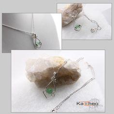 Jade Pendant / Sterling Silver Wire Wrapped Pendant / Minimalist Trend by https://www.facebook.com/KalitheoCreations #minimalist #pendant #sterlingsilver #wireWrapped KTC-178   AU$39.00