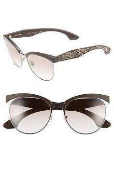 c716b211873 Miu Miu 56mm Pavé Cat Eye Sunglasses available at  Nordstrom  MiuMiu