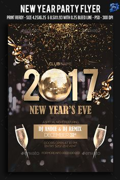 New Year Party Flyer  Clubs  Parties Events  New Year