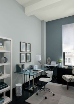 Trendy Home Office Paint Colors Colour Schemes Benjamin Moore Office Wall Paints, Office Wall Colors, Office Color Schemes, Living Room Color Schemes, Office Walls, Colour Schemes, Paint Schemes, Gold Office, Office Spaces