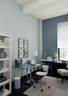 Trendy Home Office Paint Colors Colour Schemes Benjamin Moore Office Wall Paints, Home, Office Interiors, Gray Home Offices, Home Office Design, Office Color Schemes, Office Walls, Office Wall Colors, Office Paint Schemes