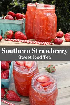 Southern Strawberry Sweet Iced Tea | Divas Can Cook