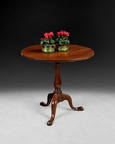 Always popular, a good George III Mahogany Tripod Table with a one-piece solid top dating from Ca, 1765
