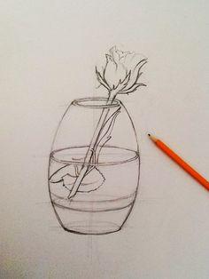 Drawing a rose ... Work in progress .. By Ioana Cotuna