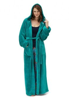 9072fa1df4 Keep cosy in this superb soft robe with patch pockets and hood Style note   Snuggle up in this thick