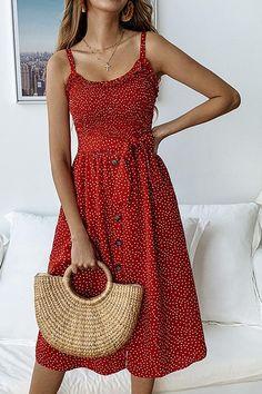 Pünktchenkleid - New Ideas Boho Midi Dress, V Neck Midi Dress, Midi Dress Outfit, Dress Skirt, Dress Shoes, Sexy Dresses, Cute Dresses, Cute Outfits, Midi Dresses