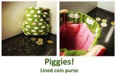 Piggies Coin Purses, Coins, Lunch Box, Collection, Coin Wallet, Coining, Rooms, Coin Purse, Bento Box