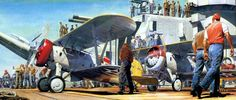 The Professionals, by James Dietz (Boeing F4B-4 aboard USS Saratoga)