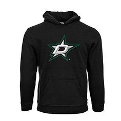 Levelwear Dallas Stars Suede Crest Eli Youth Pullover Hoodie Yl Black