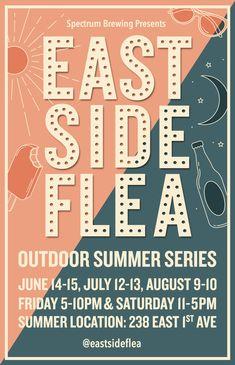 Eastside Flea New Location Posters, Marketing, Music, Summer, Musica, Musik, Summer Time, Poster, Muziek