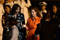 Pin for Later: The Obama Women Are Greeted by Royalty After They Touch Down in Morocco For a Girls' Trip