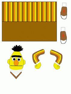 bert en ernie Abc Crafts, Puppet Crafts, Sesame Street Party, Sesame Street Birthday, Anniversaire Elmo, Elmo Abc, Projects For Kids, Crafts For Kids, Sesame Street Coloring Pages