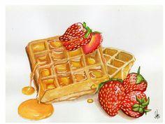 NijiHankoNPainting : waffle