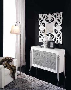 Espejos cl sicos espejos barrocos espejos decorativos for Espejos decorativos blancos