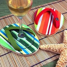 Flip Flop Coasters, OMG!! Now this is too cute!! I want some!