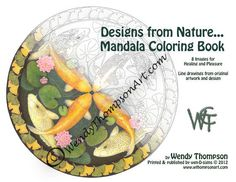 NEW BONUS PAGES  Coloring Book of Nature Mandalas  by wthompsonart