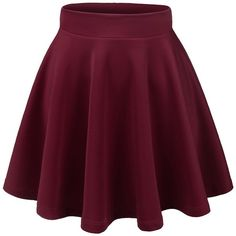 Thanth Womens Versatile Stretchy Pleated Flare Short Skater Skirt (260 ARS) ❤ liked on Polyvore featuring skirts, purple pleated skirt, skater skirts, stretchy skirt, pleated skater skirt and flared hem skirt