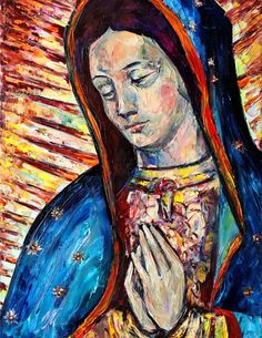 Virgin Mary by Natasha Mylius Impressionism, Contemporary Impressionism, Fine Art, Canvas, Painting, Art, Portrait, Pop Art, Prints