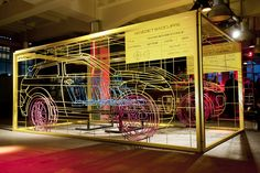 Benedict Radcliffe x Land Rover Range Rover Evoque Wireframe Installation Exhibition Stand Design, Exhibition Display, Exhibition Space, New Range Rover Evoque, Pop Up, Display Design, Display Ideas, Car Manufacturers, Event Design