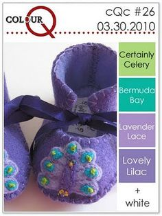 colourQ 26 Certainly Celery, Bermuda Bay, Lavendar Lace, Lovely Lilac