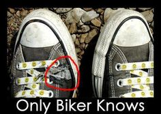 Only biker knows...