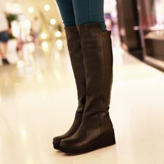 2012 new style choke a small pepper-style thick wedges of England Europe rider high boots woman boots