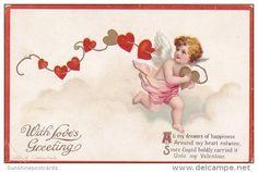 Ansichtskarten > Motive > Feiern & Feste > Valentinstag - Delcampe.net Victorian Valentines, Vintage Valentines, Kinder Valentines, Vintage Heart, Love Charms, Vintage Greeting Cards, Cupid, Postcards, Miniature