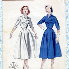 Hey, I found this really awesome Etsy listing at https://www.etsy.com/listing/243470752/vintage-1950s-womens-dress-sewing