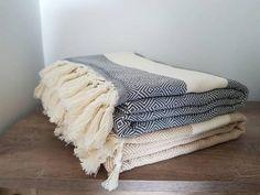 100% Cotton BedSpread  Diamond Pattern Blanket  Large Family