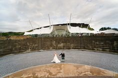 Amazing photo taken at our wedding venue #Dynamicearth #Earthscore #Amphitheatersteps #Bride&Groom #Weddingphotography