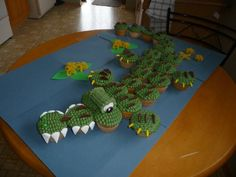 Crocodile cupcakes. I really liked making these. They were relatively easy too.