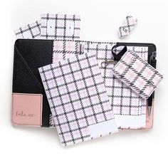 The New Pink Houndstooth Plaid Collection is so cheery! . . #organizers #planners #plannercover #tncovers #plannerinserts Planner Inserts, Houndstooth, Organizers, Planners, Plaid, Organization, How To Plan, Pattern, Pink