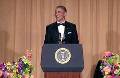 President Obama at the 2013 White House Correspondents Association Dinner in Washington, D.C. April 27, 2013.