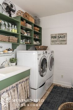 Laundry Room Makeover | Part 2 | The Reveal - Miss Mustard Seed #laundryroom #farmhousestyle #farmhousedecor