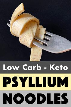 Psyllium Noodles [Low Carb & Keto] - Resolution Eats - Keto (low carb) - Noodles are one of the foods that low carb dieters miss the most. But luckily, these Keto Psyllium - Keto Friendly Desserts, Low Carb Desserts, Low Carb Recipes, Diet Recipes, Healthy Recipes, Protein Recipes, Bread Recipes, Cookie Recipes, Healthy Food