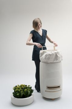 A Hip Hive for Urban Bees by Justine Hand The hive, which is made of light concrete, creates an optimal environment for bees, yet is compact enough for most urban balconies, rooftops, and small gardens. Gardenista