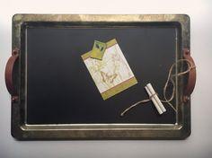 Vintage Godinger Silver Plate Blackboard by VintageMetalsReborn Vintage Metal, Unique Vintage, Retro Vintage, Vintage Items, Blackboards, New Shop, Rustic Decor, House Warming, Chalkboard