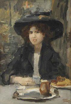 Isaac Israels (Dutch, 1865-1934) : Le Petit Déjeuner, Bois de Boulange, c. 1904-1910.