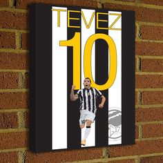 Carlos Tevez Canvas Print - Argentina - Juventus Soccer Poster- Juve Art poster wall decor, home decor, Serie A, canvas, juve poster #soccer #wallart #decor #canvas #art #poster #graphicdesign #soccerart #football #futbol #etsy #g17 #graphics17 #etsy