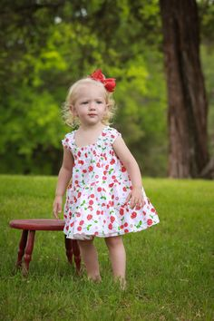 Maya Twirly Tier Dress sizes 6months to  12 by EnchantedPatterns