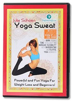 Yoga Sweat Yoga DVD for Weight Loss with Julie Schoen - Powerful and Fun Yoga for Weight Loss and Beginners - Burn Calories, Tone Total Body, and Increase Flexibility with Yoga Workouts for Women + Men Best Yoga DVD to Lose Inches - Guaranteed Weight Gain Diet, Lose Weight In A Week, Yoga For Weight Loss, Easy Weight Loss, Healthy Weight Loss, Best Yoga Dvd, Yoga Sweat, Yoga Trainer, Lose Inches