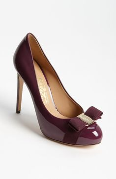 d2cac2fc83da Ferragamo Rilly Pump in Purple (barolo purple) - Lyst Low Heel Shoes